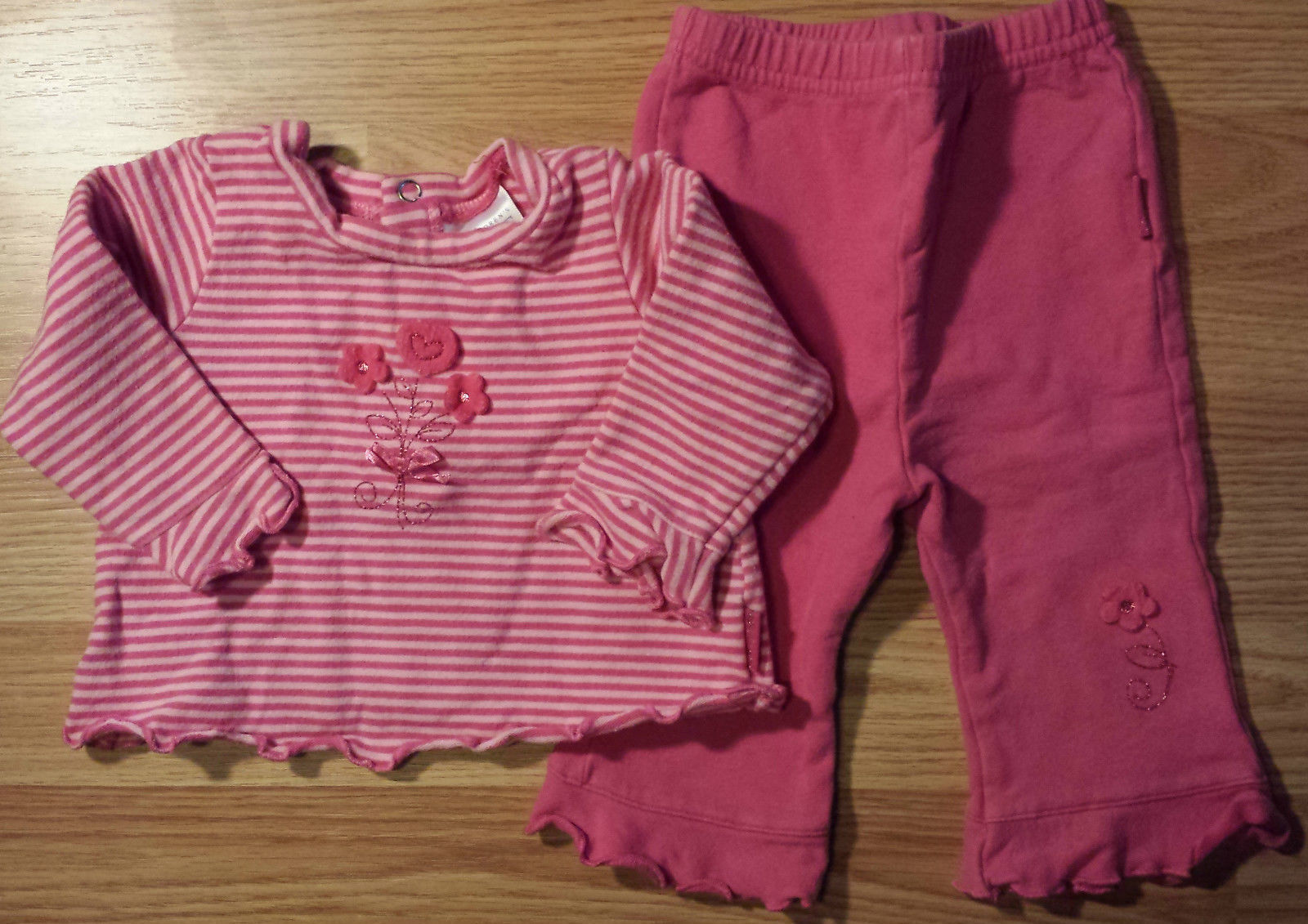 Girl's Size 3/6 M Month The Children's Place 2 Piece Floral Pants & Top Outfit
