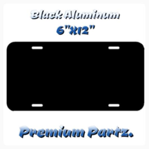 "Blank License Plate New Black Aluminum 6""X12"" U... - $14.99"