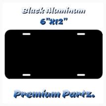 "Blank License Plate New Black Aluminum 6""X12"" U... - $14.99"
