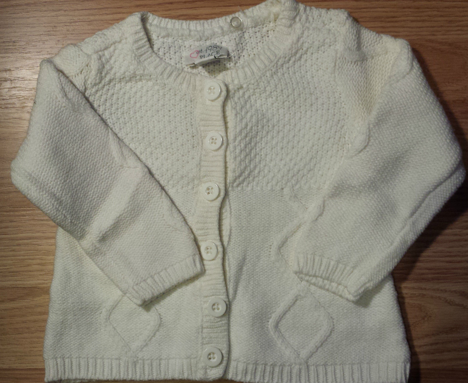 Girl's Size 12-18 M Months Cream Children's Place Cardigan, Top & Carter's Pants