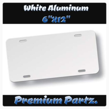 "Blank License Plate New White Aluminum 6""X12"" U... - $14.99"