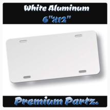 "Blank License Plate New White Aluminum 6""X12"" U... - $14.99"