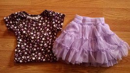 Girl's Size 24 M 18-24 Months Two Pc Brown Floral Carter's Top & Place TCP Skirt - $14.00