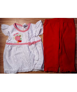 "Girl's Size 9-12 M Months 2 Pc White Eyelet ""Picnic"" Fruit Top, Carter's... - $16.70"