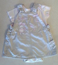 Girl's Sz 3-6 M Months Two Piece The Children's Place Bunny Suspender Dress Set - $18.10
