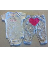 """Girl's Size 3 M Months 2 Pc Carter's White """"Mommy Says I'm Purr-fect"""" To... - $12.65"""