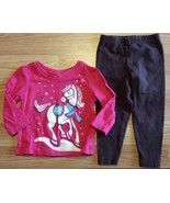 Girl's Size 6-9 M Months Two Pc Pink Glitter Children's Place Horse Top,... - $12.20