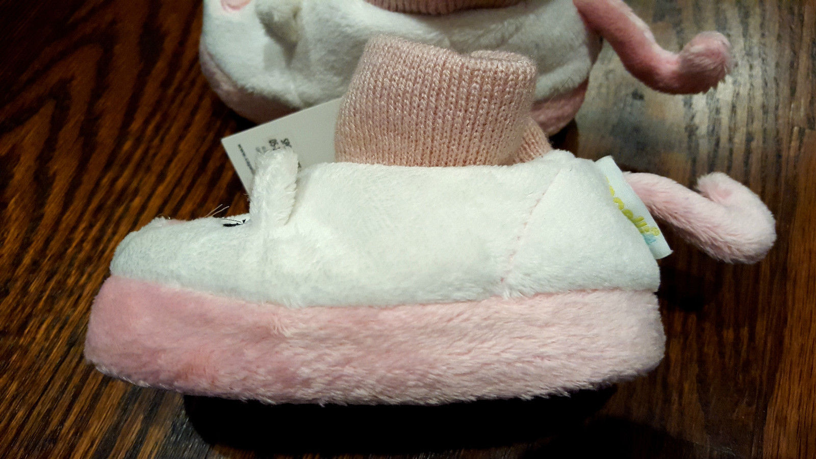 NWT Girl's Size 4-5 or 6-7 Capelli Kids NY White/ PInk Furry Kitten Slippers