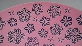 Mid Century Modern HUGE Roselane Pink & Grey At... - $64.24