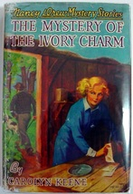 Nancy Drew Mystery of the Ivory Charm 13 hcdj 1952B-37 FARAH Carolyn Keene - $30.00