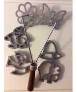 Mold Cast Set Doulbe Rosette open form Aluminum with 6 molds - $36.25