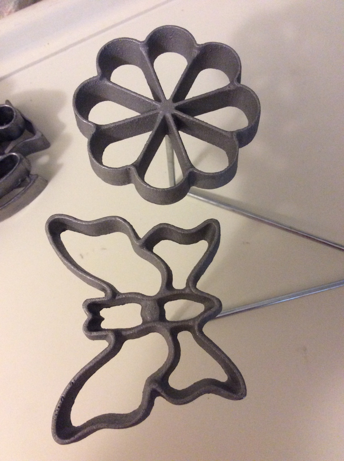 Mold Cast Set Doulbe Rosette open form Aluminum with 6 molds