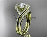 Ding ring  diamond engagement ring  forever brilliant moissanite  matching band  1 thumb155 crop