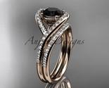 Ld  diamond wedding ring  diamond engagement ring  black diamond  matching band  1 thumb155 crop
