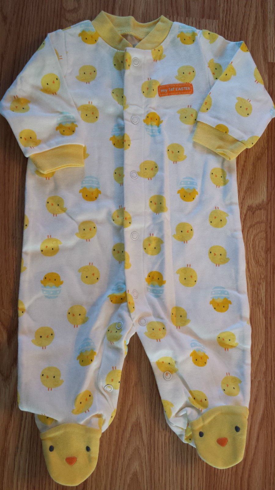 "NWOT Girl's or Boy's Size 0-3 M Months One Piece Footed Pajama ""My First Easter"""