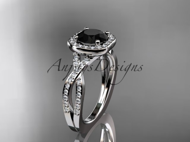 Eafring393 white gold  platinum  diamond wedding ring  diamond engagement ring  black diamond  1