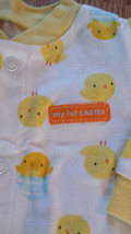 "NWOT Girl's or Boy's Size 0-3 M Months One Piece Footed Pajama ""My First Easter"" image 2"