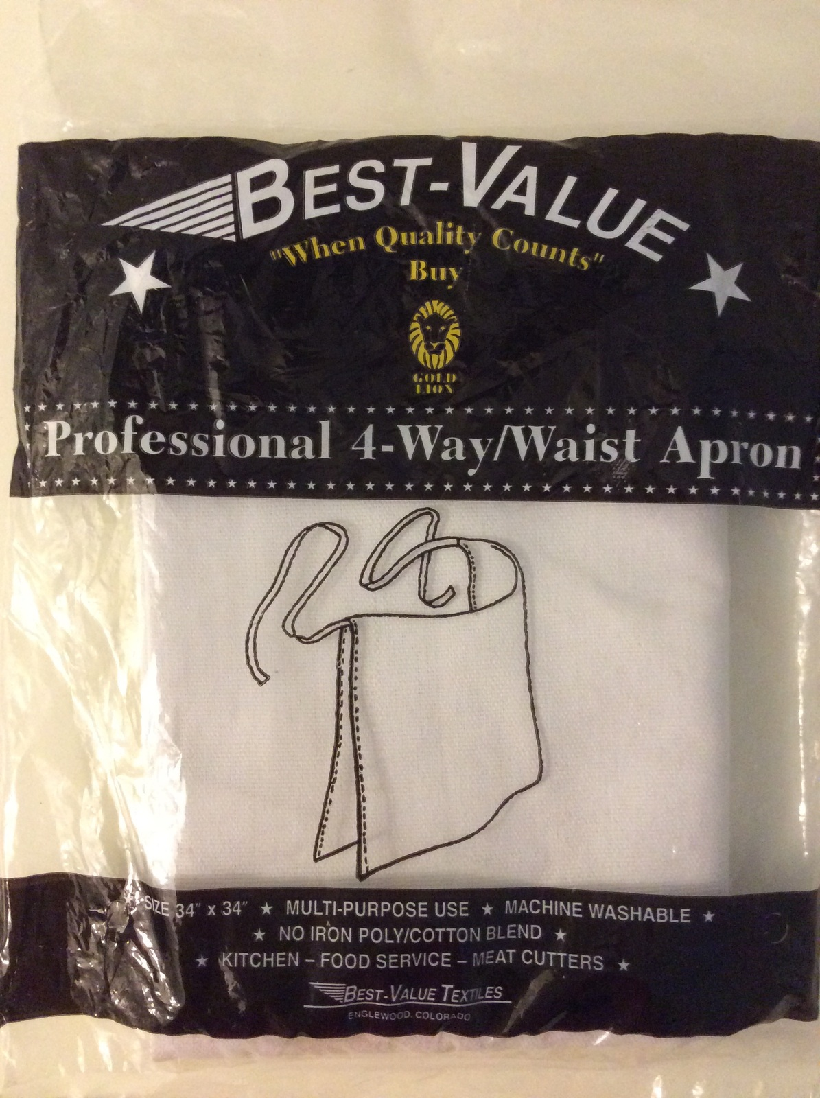 Best Value White Professional 4-way Waist Cloth Apron