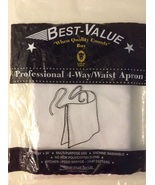 Best Value White Professional 4-way Waist Cloth Apron - $10.00