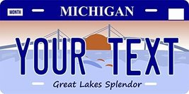 Michigan Novelty Custom Personalized Tag Vehicle Car Auto License Plate - $16.75