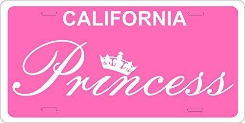 California Princess Custom Personalized Tag Vehicle Car Auto License Plate