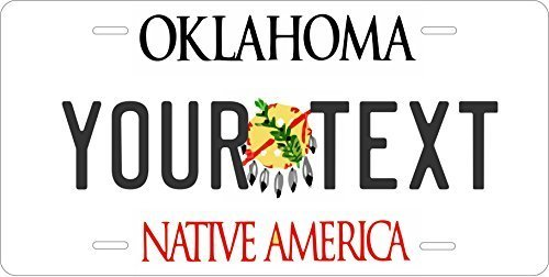 Oklahoma Custom Personalized Tag Vehicle Car Auto License Plate