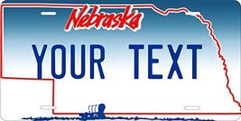 Nebraska Custom Personalized Tag Vehicle Car Auto License Plate - $16.75