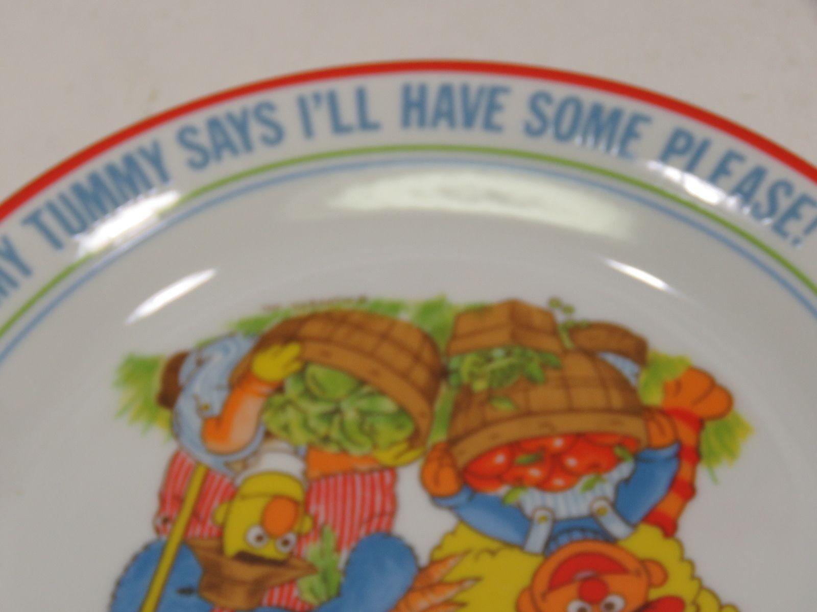 """Sesame Street Newcor Going to Market Porcelain Plate Farmer Kids Children 8.5"""""""