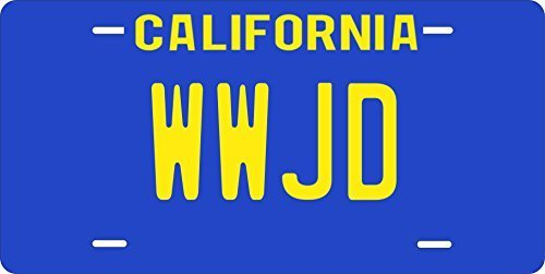 WWJD Custom Personalized Tag Vehicle Car Auto License Plate