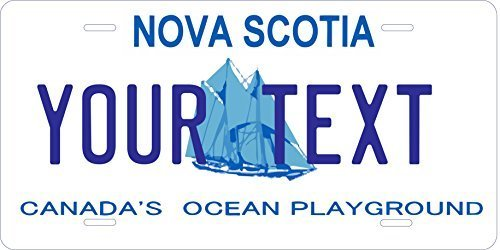 Nova Scotia Custom Personalized Tag Vehicle Car Auto License Plate