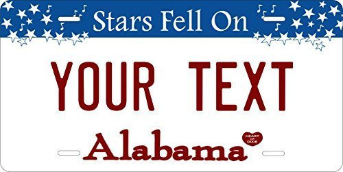 Alabama Star Falling Custom Personalized Tag Vehicle Car Auto License Plate