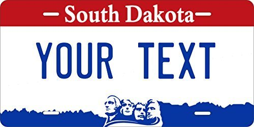 South Dakota Custom Personalized Tag Vehicle Car Auto License Plate