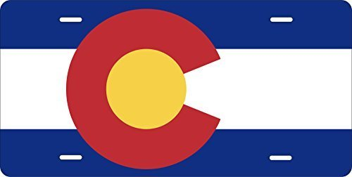 Colorado Flag Novelty Custom Personalized Tag Vehicle Car Auto License Plate