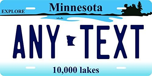 Minnesota Novelty Custom Personalized Tag Vehicle Car Auto License Plate