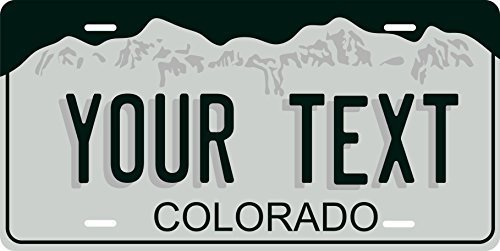 Colorado Novelty Custom Personalized Tag Vehicle Car Auto License Plate
