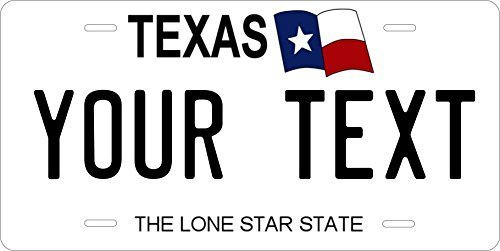 Texas State Novelty Custom Personalized Tag Vehicle Car Auto License Plate