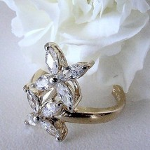 Size 7 Delicate Petal Ring CZ's Sterling Setting $29.99 - $29.69