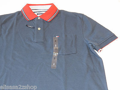Men's Tommy Hilfiger Polo shirt  logo 7868433 Navy Blazer 416 S Classic Fit NWT