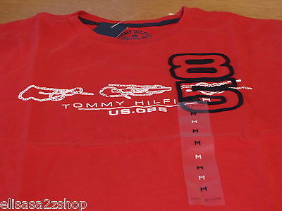 Men's Tommy Hilfiger T shirt red front logo soft TEE 85 classic medium 7810454