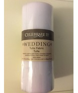 "Celebrate It White Wedding Tulle Fabric 8.5"" X 50 yd - $11.00"