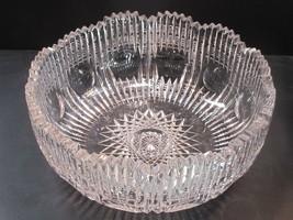 ABP cut glass bowl American brilliant zipper - $181.98