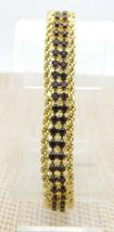 "Red Rhinestone Gold Tone Chain Bracelet Vintage 7.5"" - $19.80"