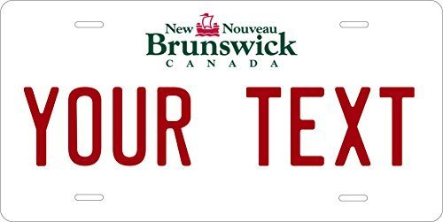 New Brunswick Canada Custom Personalized Tag Vehicle Car Auto License Plate