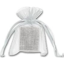 Silver Organdy Bags - 36 count - $8.00+