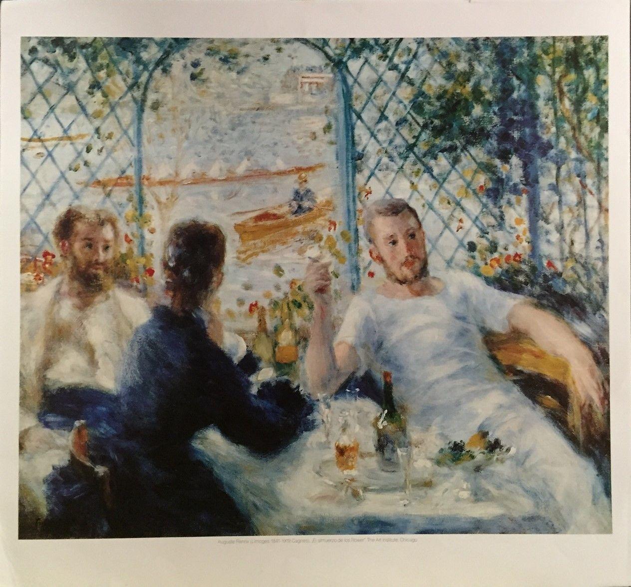 El Almuerzo De Los Rower  by Pierre Auguste renoir