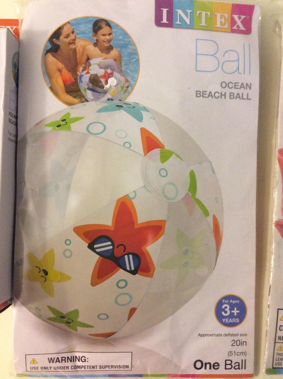Intex Beach Pool Ball and Arm Band Set Lot of 3 pc
