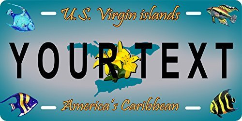 US Virgin Island Custom Personalized Tag Vehicle Car Auto License Plate