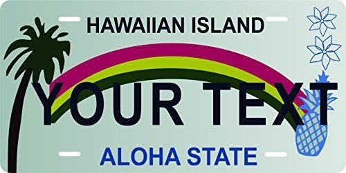 Hawaii Stat Custom Personalized Tag Vehicle Car Auto License Plate