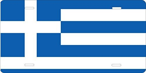 Greece Flag Novelty Custom Personalized Tag Vehicle Car Auto License Plate