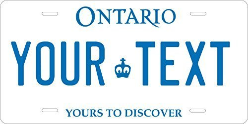 Ontario Canada Novelty Custom Personalized Tag Vehicle Car Auto License Plate
